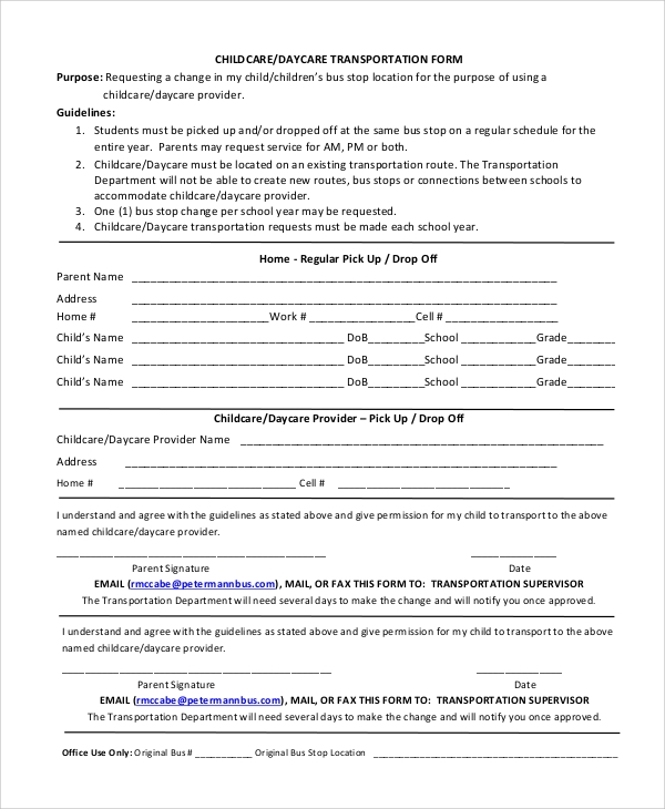 Accomplished image pertaining to home daycare forms printable