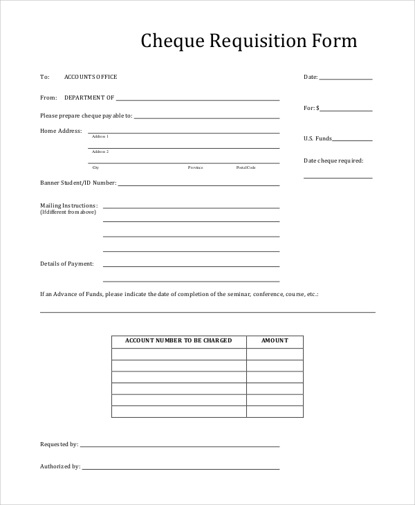 Cheque Request Form Agency Account Check Request Form Check Request
