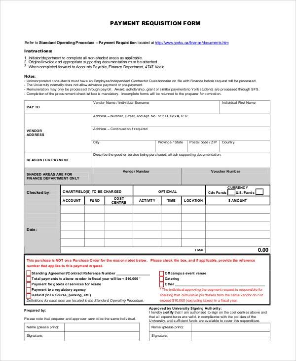 Free Requisition Form  WowcircleTk
