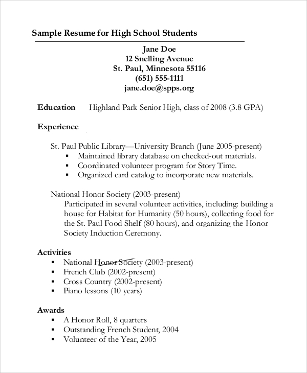 resume-for-high-school-graduate-with-no-experience