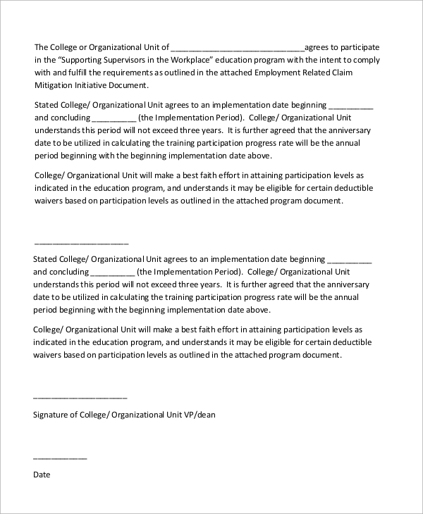 Letter Of Intent Example   Samples In Word Pdf