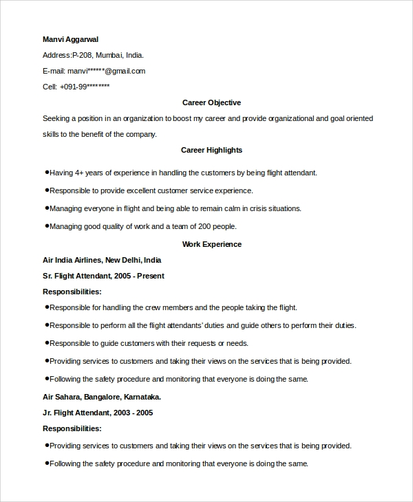 Sample Hostess Resume 7 Examples In Word