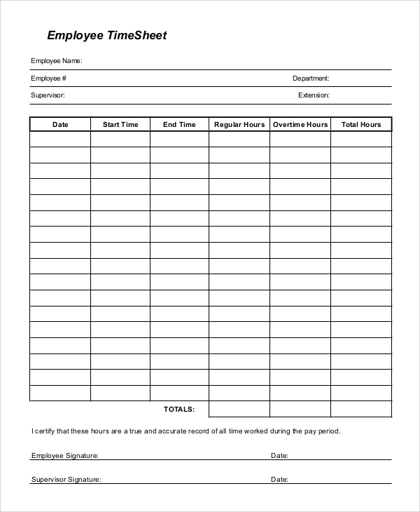 Free 9 Sample Printable Time Sheet Templates In Pdf Ms Word Excel