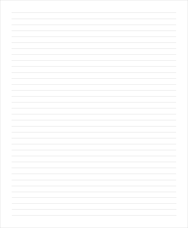 Sample Printable Lined Paper - 8+ Examples In Pdf, Word