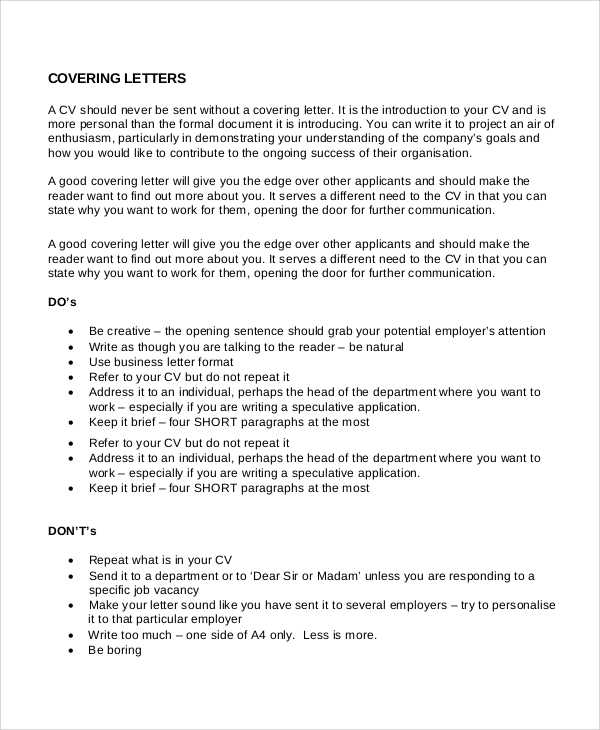 A Cover Letter For A Resume: Sample Cover Letter Introduction