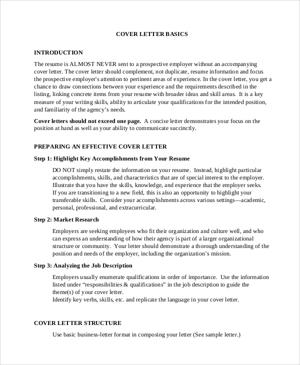 general cover letter introduction