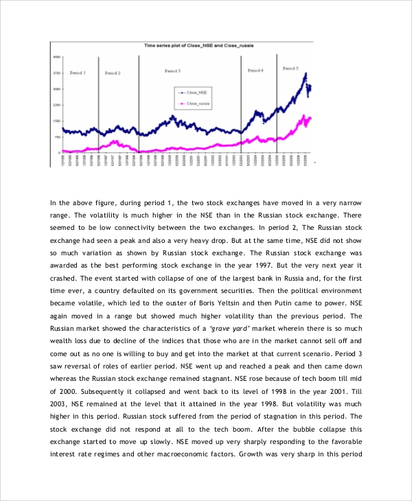 Sample Stock Market Analysis   Examples In Pdf