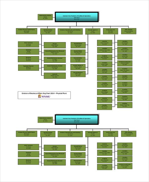 business affairs organizational chart
