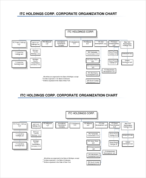 holdings corporate organizational chart