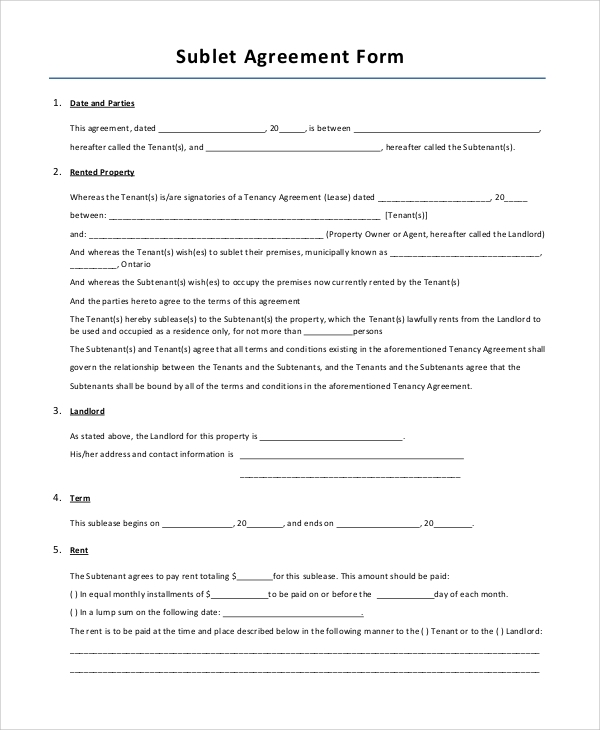 Simple Lease Agreement Form  BesikEightyCo