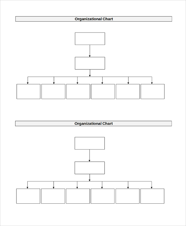 Sample Organizational Chart 44 Examples in PDF PPT Word – Blank Organizational Chart