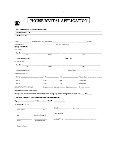 Sample Rental Application 11 Examples In Pdf