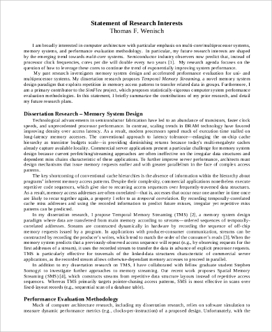 Statement Of Research Interest In PDF