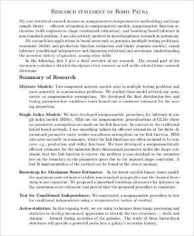 Sample Research Statement 10 Examples In Pdf Word