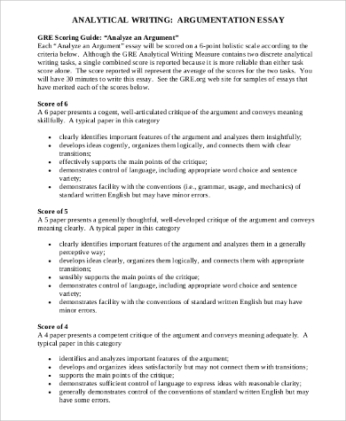 sample argumentative essay examples in pdf word argument analysis essay