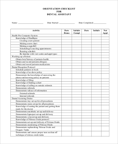 Sample Daily Checklist   Examples In Pdf Word