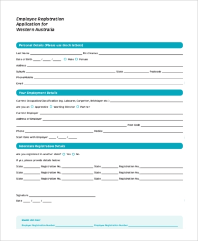 Employee Application Employee Application Forms Restaurant Employee