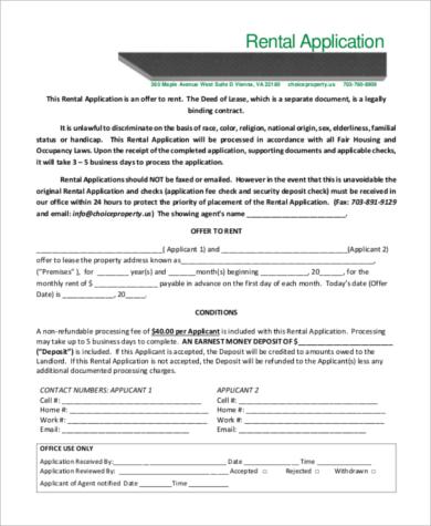 rental property application1