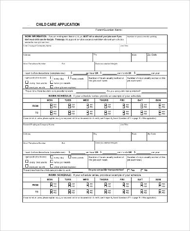 Sample printable job application 8+ examples in word, pdf.