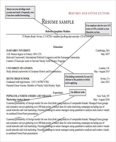 general resume cover letter