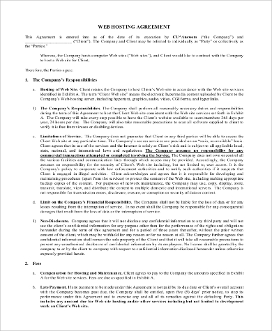 Contract Agreement Template  Letter Template Wordcontract