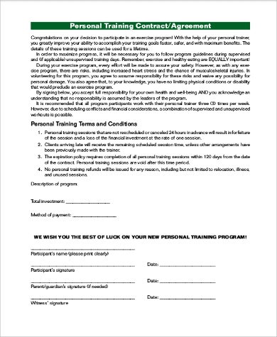 Sample Contract Agreement   Examples In Pdf Word