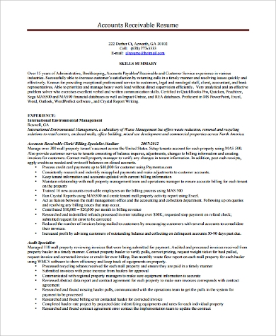 Free 11 Sample Account Manager Resume Templates In Pdf