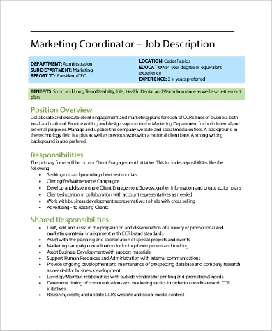 Employee job descriptions tool and template.