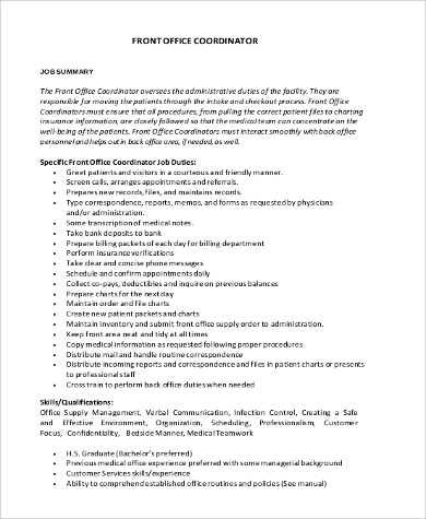 Office Coordinator Job Description