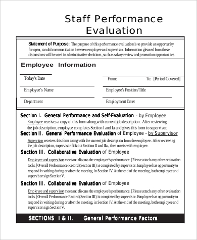 Sample Employee Self Evaluation - 9+ Examples In Pdf, Word