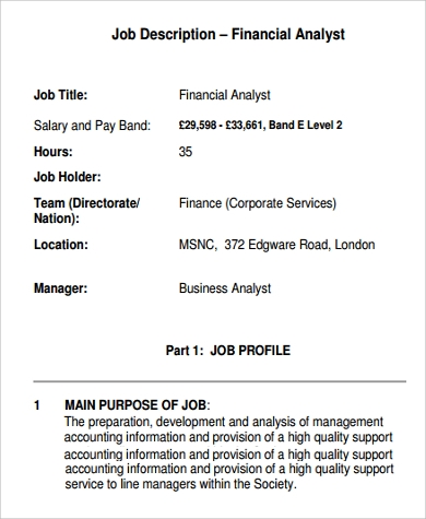 Sample Analyst Job Description - 10+ Examples In Pdf, Word