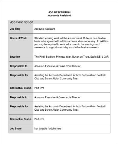 accounting department assistant job description