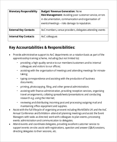 business administration assistant job description design inspirations - Job Description Of Business Administration