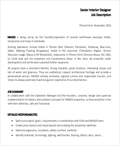 Sales Consultant Job Description | Interior Design Consultant Job Description 5 6 Gm Fitness De