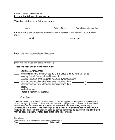 social security administration release form1