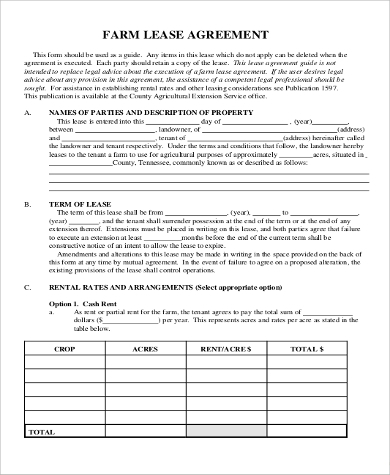 farm lease agreement form2