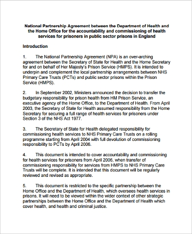 national partnership agreement