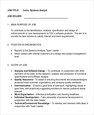 the duties and responsibilities of a computer analyst Analyst position descriptions the duties of a crime analyst  the elements listed below refer to specific analyst duties and are meant to  use computer .