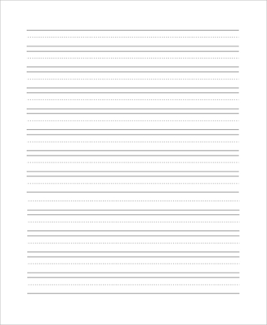 primary lined paper in pdf