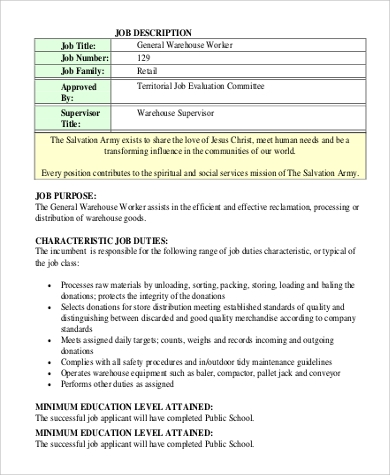 Warehouse Worker Resume  Warehouse Worker Duties Resume Packer