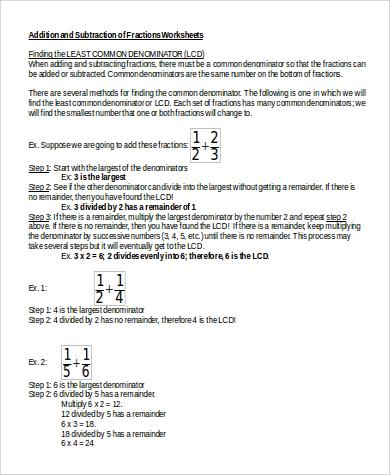 sample addition worksheet