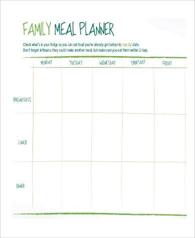 family meal planner1