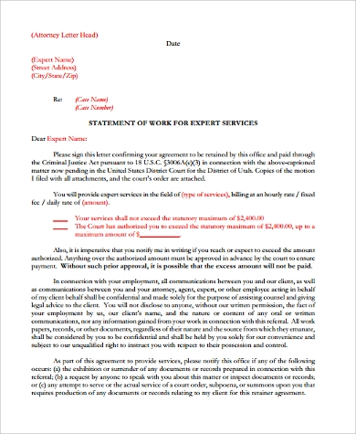 attorney letterhead sample