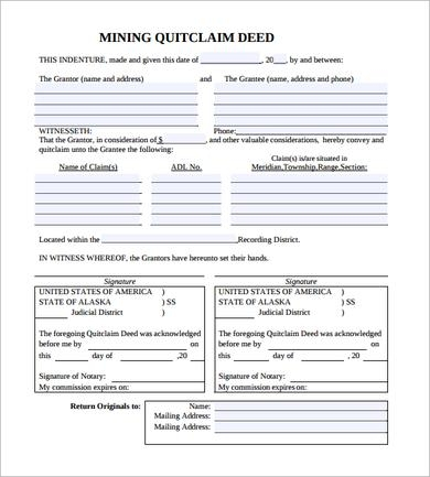 Quit Claim Deed Quit Claim Deed Form Tennessee Sample Quit Claim