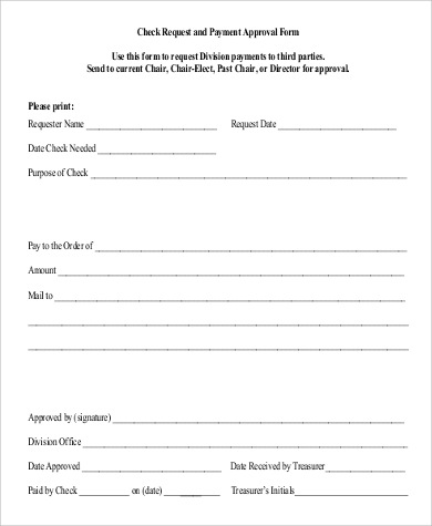 check request approval form
