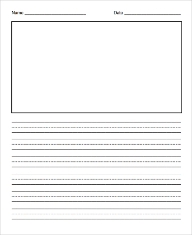 lined illustration paper