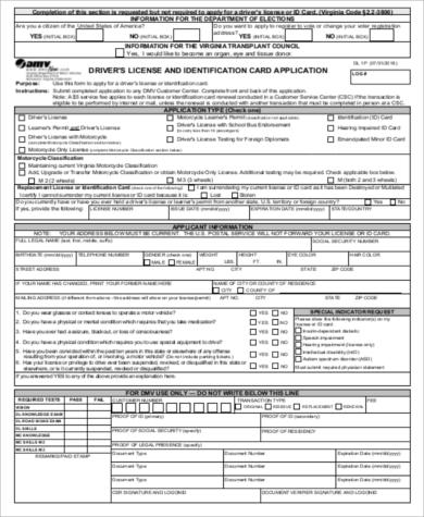 california id template download - 9 sample dmv application forms sample templates
