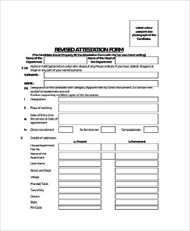 Sample Attestation Form - 11+ Examples in Word, PDF