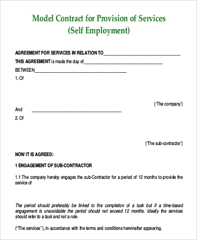 Beautiful Self Employment Agreement Pictures  Best Resume Examples