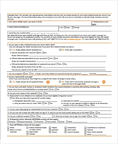 Sample Health Insurance Tax Form - 8+ Examples in Word, PDF